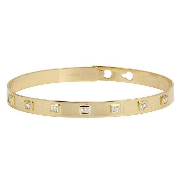 SVS Fine Collection Yellow Gold And Diamond Bangle, .23ctw SVS Fine Jewelry Oceanside, NY