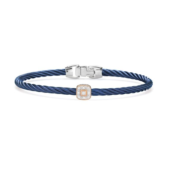 ALOR Blueberry Cable Bangle, 0.05cttw, size 7 SVS Fine Jewelry Oceanside, NY