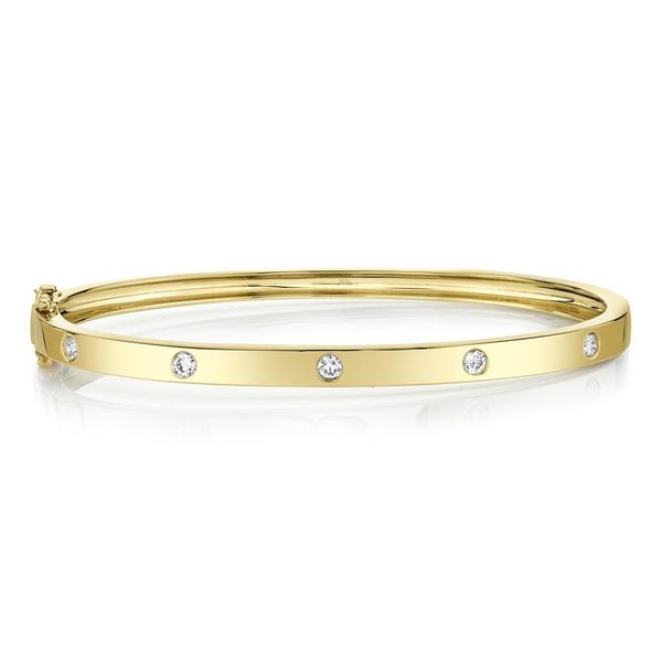Shy Creation 14K Yellow Gold Diamond Bangle, 0.38Cttw SVS Fine Jewelry Oceanside, NY