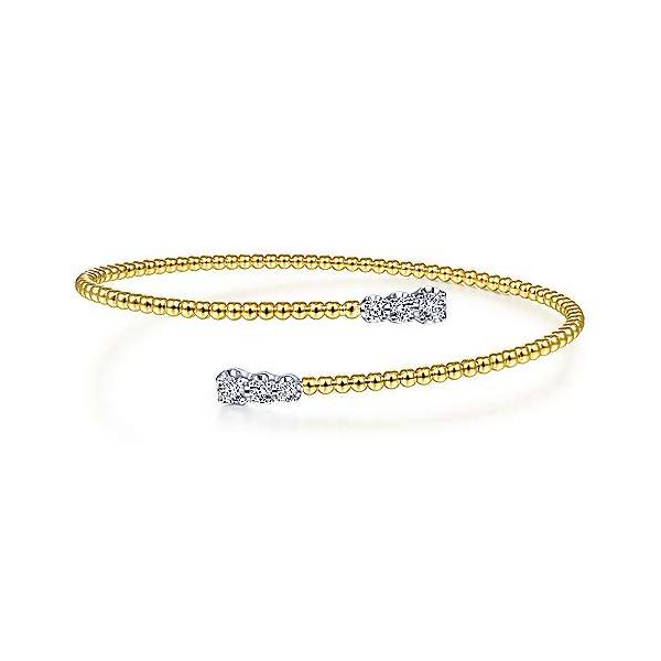 Gabriel & Co. Bujukan 14K Yellow Gold & Diamond Bangle SVS Fine Jewelry Oceanside, NY