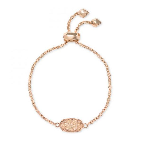 Kendra Scott Elaina Rose Gold Bracelet In Sand Drusy SVS Fine Jewelry Oceanside, NY