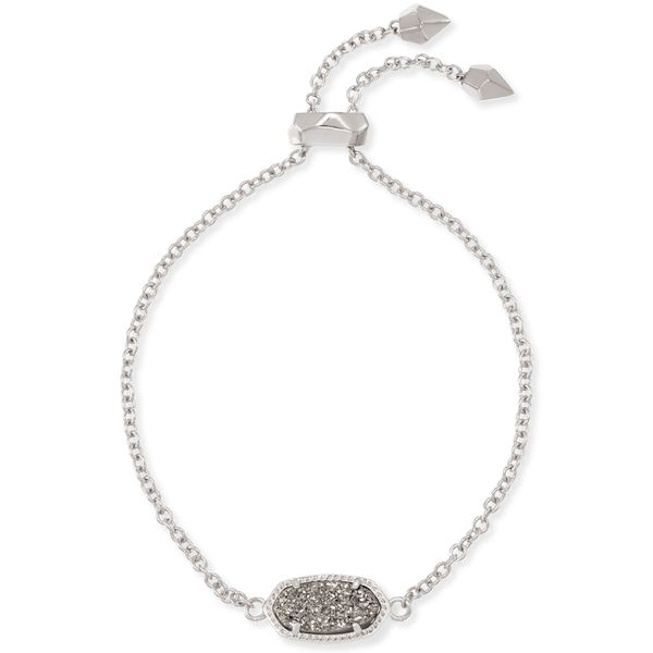 Kendra Scott Elaina Silver Adjustable Chain Bracelet SVS Fine Jewelry Oceanside, NY