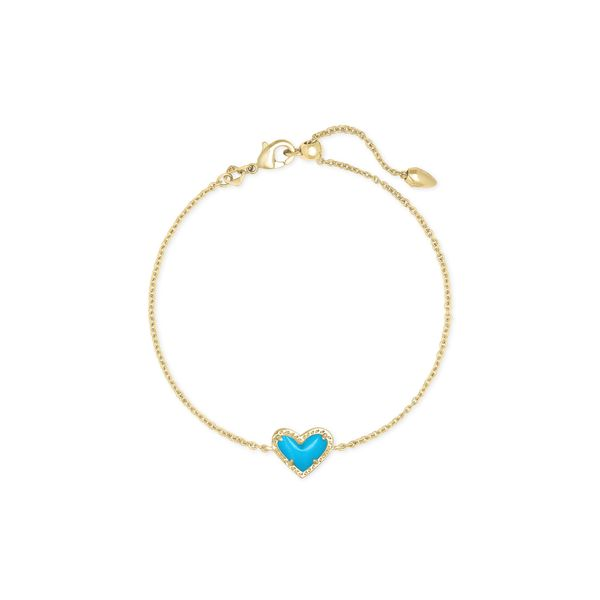 Kendra Scott Ari Gold Heart Chain Bracelet SVS Fine Jewelry Oceanside, NY