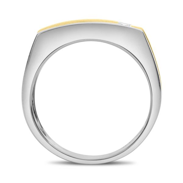 Men's White & Yellow Gold Diamond Band Image 2  ,