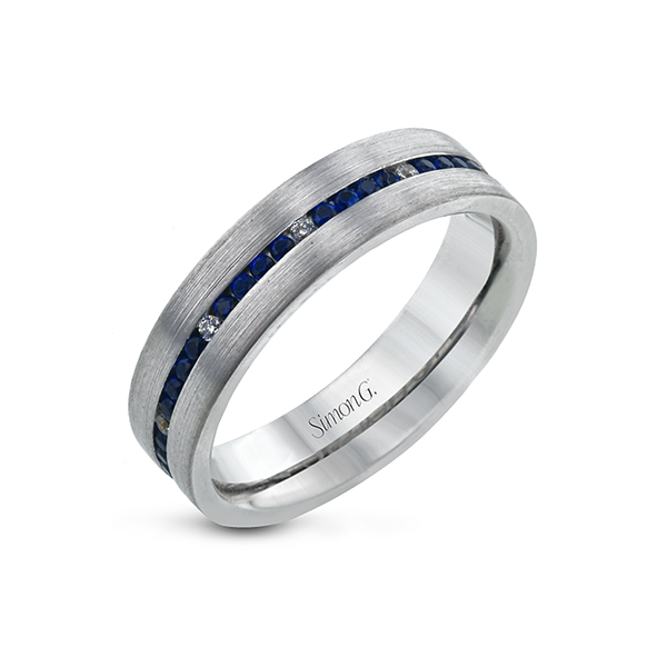 Simon G. Men's 14K White Gold Wedding Band SVS Fine Jewelry Oceanside, NY