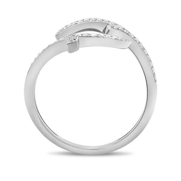 White Gold Diamond Pave Bypass Ring Image 2  ,