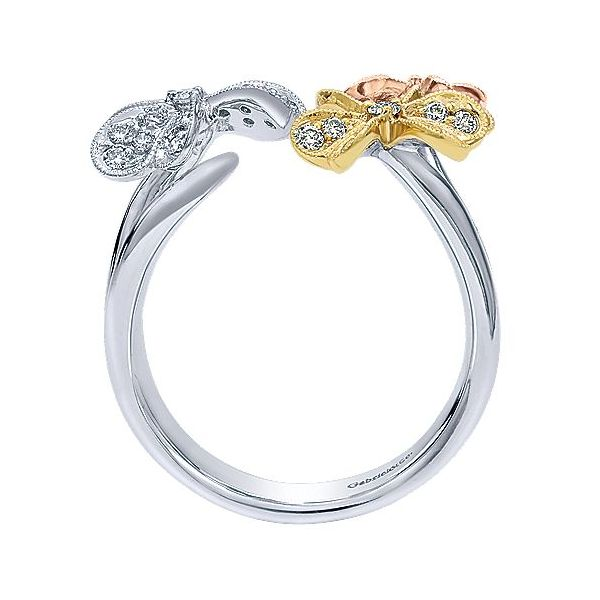 Gabriel & Co. Yellow/White/Rose Gold Ring Image 2  ,