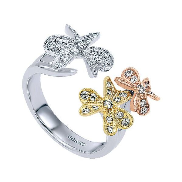 Gabriel & Co. Yellow/White/Rose Gold Ring Image 3  ,
