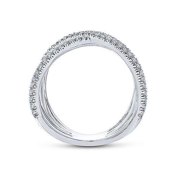 Gabriel & Co. Lusso 14K White Gold Diamond Fashion Ring Image 2  ,
