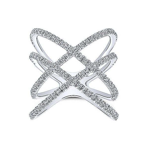 Gabriel & Co. Lusso 14K White Gold Diamond Fashion Ring Image 4  ,