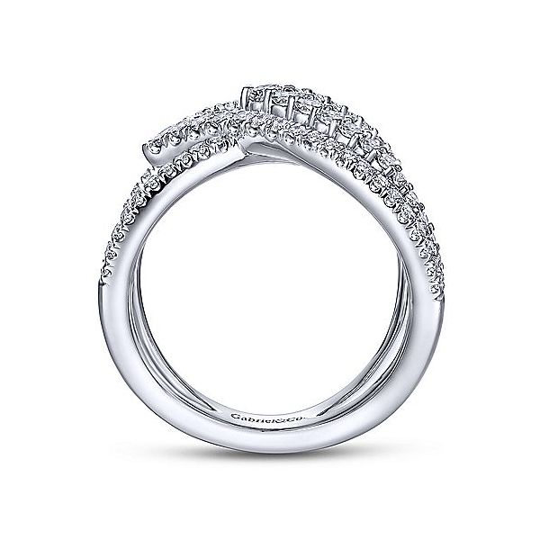 Gabriel & Co. White Gold Diamond Fashion Ring Image 2  ,