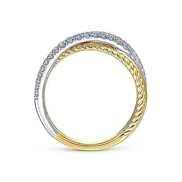 Gabriel & Co. Yellow-White Gold Diamond Fashion Ring Image 2 SVS Fine Jewelry Oceanside, NY