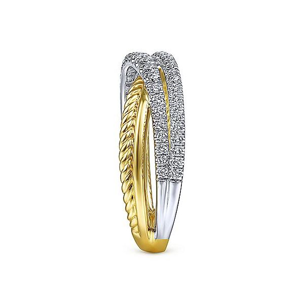 Gabriel & Co. Yellow-White Gold Diamond Fashion Ring Image 4 SVS Fine Jewelry Oceanside, NY