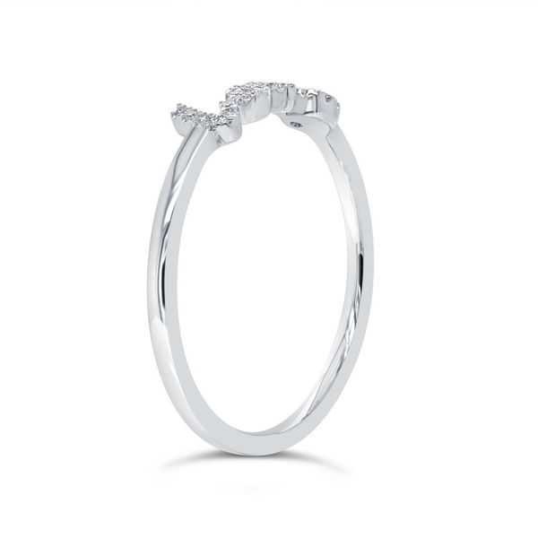 Shy Creation 14K White Gold Diamond Love Ring Image 3 SVS Fine Jewelry Oceanside, NY