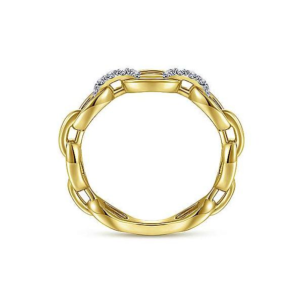 Gabriel & Co. Contemporary Yellow Gold Diamond Ring Image 2 SVS Fine Jewelry Oceanside, NY