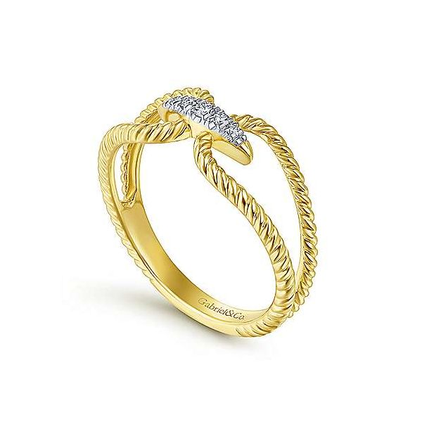 Gabriel & Co. Hampton 14K Yellow Gold Diamond Ring Image 2 SVS Fine Jewelry Oceanside, NY