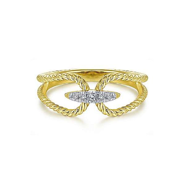 Gabriel & Co. Hampton 14K Yellow Gold Diamond Ring SVS Fine Jewelry Oceanside, NY
