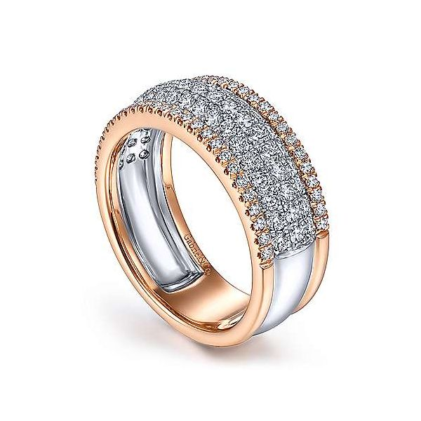 Gabriel & Co. Lusso 14K Rose & White Gold Diamond Ring Image 2 SVS Fine Jewelry Oceanside, NY