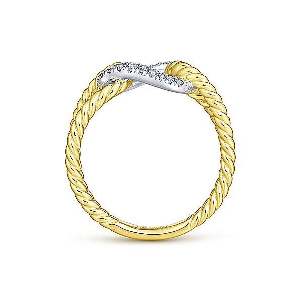 Gabriel & Co. Hampton 14K Yellow & White Gold Ring Image 2 SVS Fine Jewelry Oceanside, NY