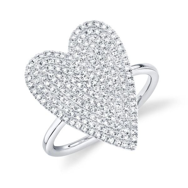 Shy Creation 14K White Gold And Diamond Heart Ring SVS Fine Jewelry Oceanside, NY