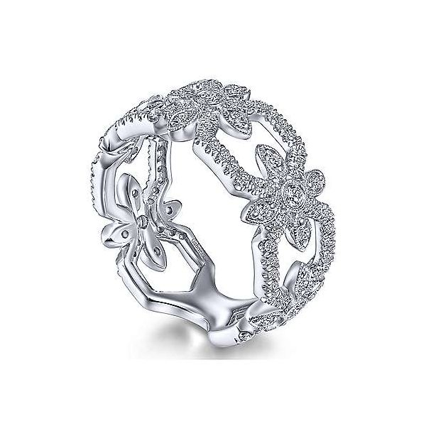 Gabriel & Co. Art Moderne 14K White Gold Diamond Ring Image 2 SVS Fine Jewelry Oceanside, NY