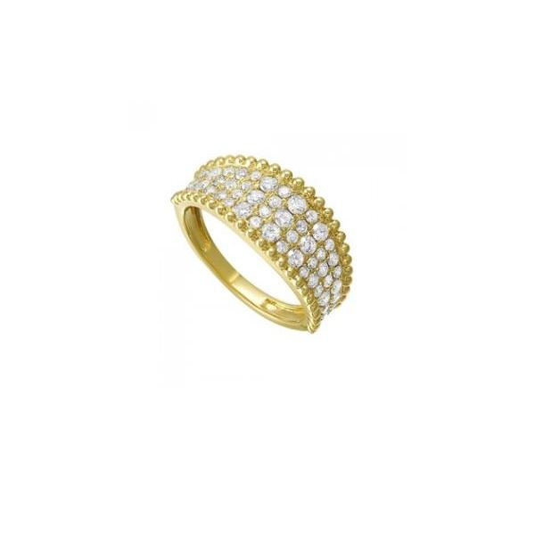 14K Yellow Gold & Diamond Ring, 1.00Cttw, Size 7.25 SVS Fine Jewelry Oceanside, NY
