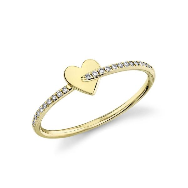 Shy Creation 14K Yellow Gold And Diamond Heart Ring SVS Fine Jewelry Oceanside, NY