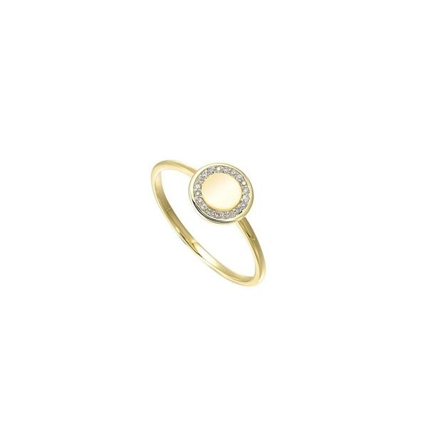 10K Yellow Gold & Diamond Ring, 0.05Cttw, Size 7 SVS Fine Jewelry Oceanside, NY