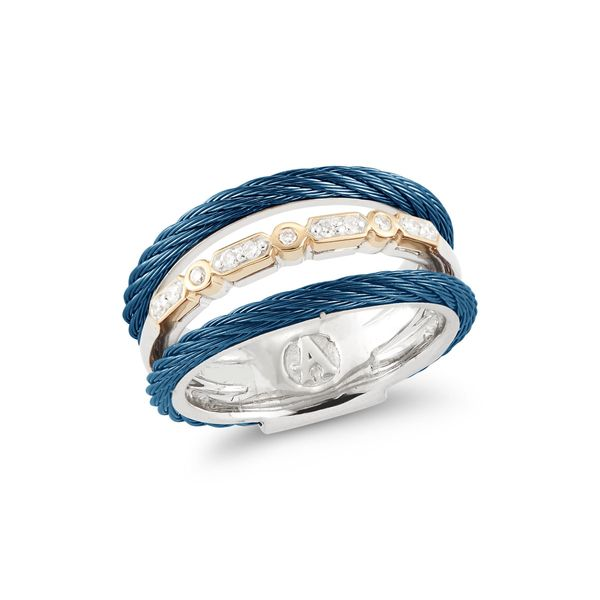 ALOR Blueberry Cable & Diamond Ring SVS Fine Jewelry Oceanside, NY