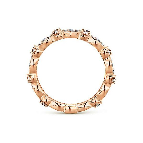Gabriel & Co. Stackable 14K Rose Gold Diamond Ring Image 2 SVS Fine Jewelry Oceanside, NY