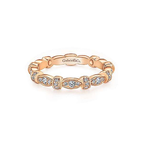 Gabriel & Co. Stackable 14K Rose Gold Diamond Ring SVS Fine Jewelry Oceanside, NY
