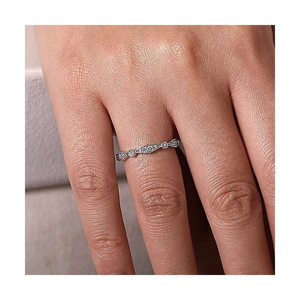 Gabriel & Co. Stackable 14K White Gold Diamond Ring Image 2 SVS Fine Jewelry Oceanside, NY
