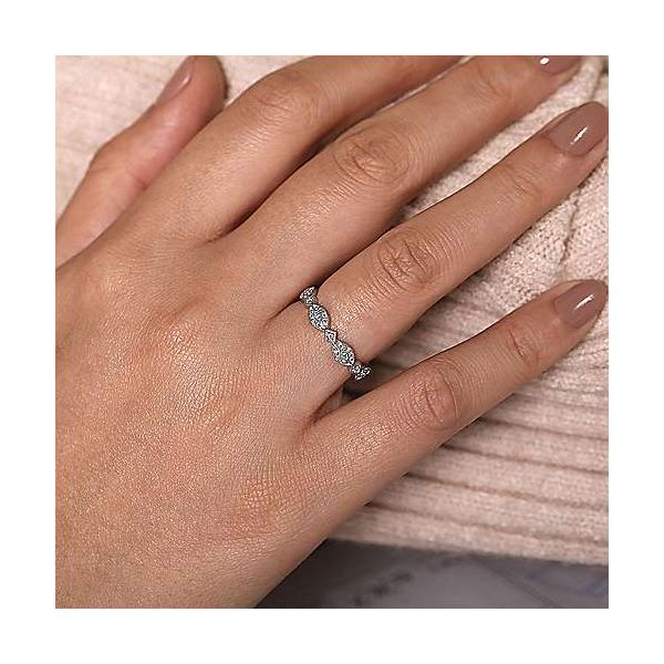 Gabriel & Co. Stackable 14K White Gold Diamond Ring Image 3 SVS Fine Jewelry Oceanside, NY