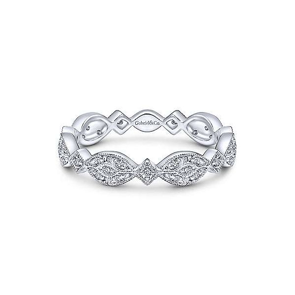 Gabriel & Co. Stackable 14K White Gold Diamond Ring SVS Fine Jewelry Oceanside, NY
