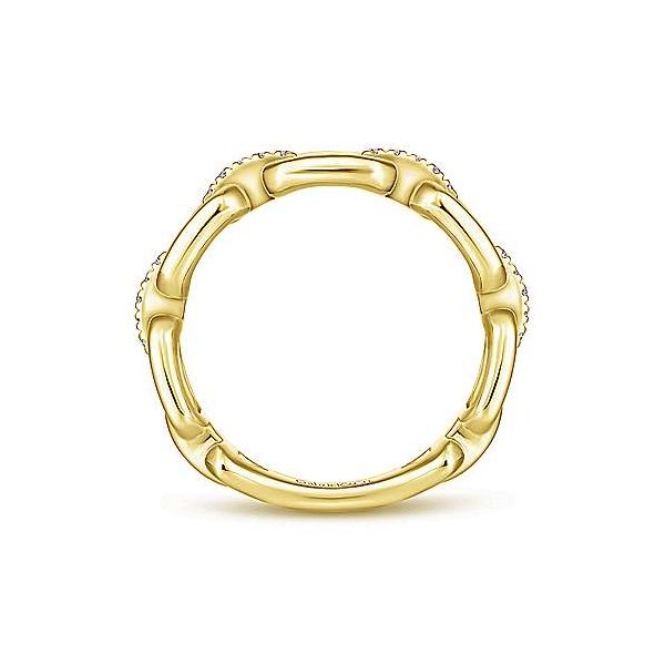 Gabriel & Co. Stackable 14K Yellow Gold Fashion Ring Image 2 SVS Fine Jewelry Oceanside, NY