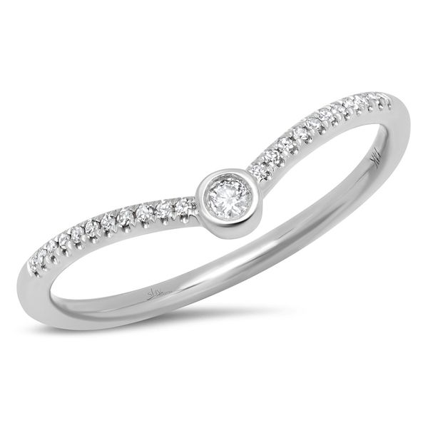 Shy Creation 14K White Gold and Diamond Contour Band SVS Fine Jewelry Oceanside, NY