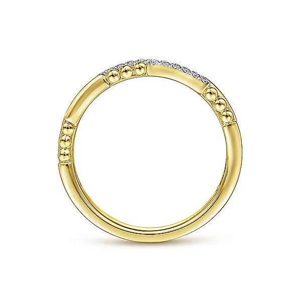 Gabriel & Co. Stackable 14K Yellow Gold Diamond Ring Image 2 SVS Fine Jewelry Oceanside, NY