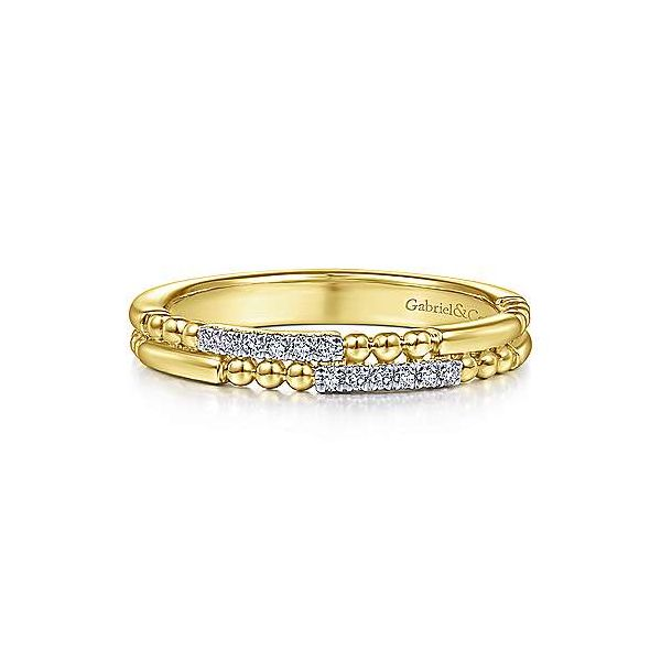Gabriel & Co. Stackable 14K Yellow Gold Diamond Ring SVS Fine Jewelry Oceanside, NY