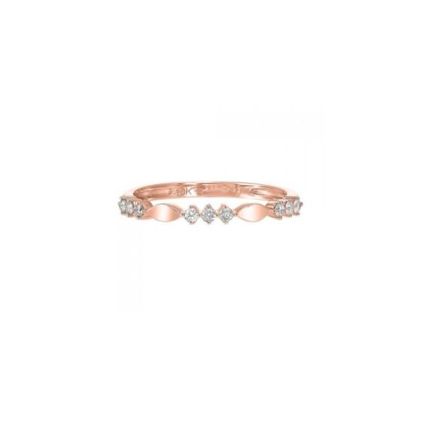 10K Rose Gold & Diamond Ring, 0.14Cttw, Size 7 SVS Fine Jewelry Oceanside, NY