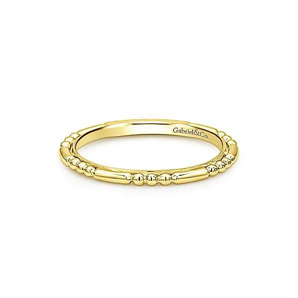 Gabriel & Co. Stackable 14K Yellow Gold Band SVS Fine Jewelry Oceanside, NY