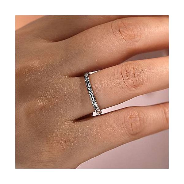 Gabriel & Co. Stackable 14K White Gold Braided Ring Image 2 SVS Fine Jewelry Oceanside, NY