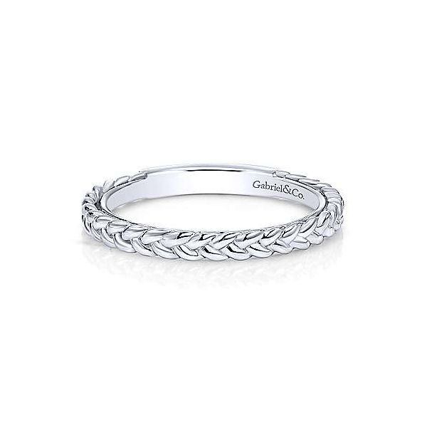 Gabriel & Co. Stackable 14K White Gold Braided Ring SVS Fine Jewelry Oceanside, NY