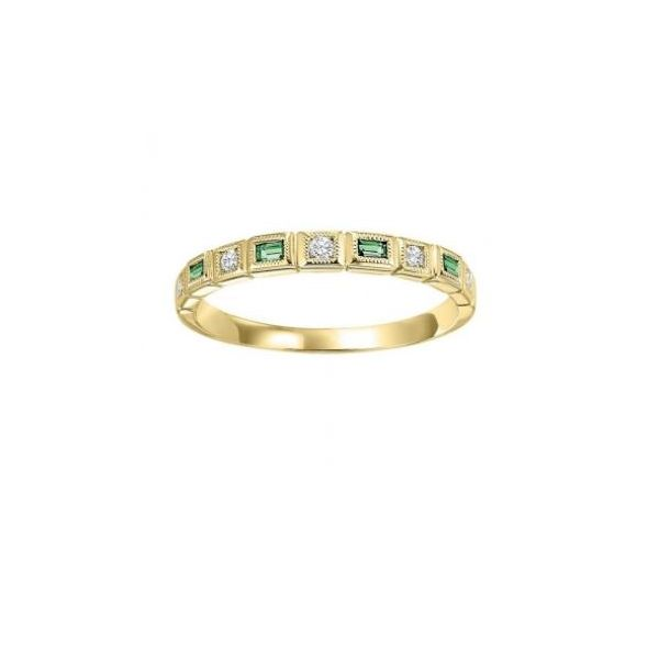 10K Yellow Gold, Diamond, & Emerald Ring SVS Fine Jewelry Oceanside, NY