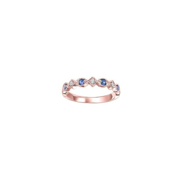 Rose Gold Stackable Prong Sapphire Band SVS Fine Jewelry Oceanside, NY