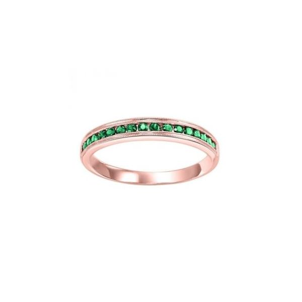 Stackable Channel Set Emerald Band SVS Fine Jewelry Oceanside, NY