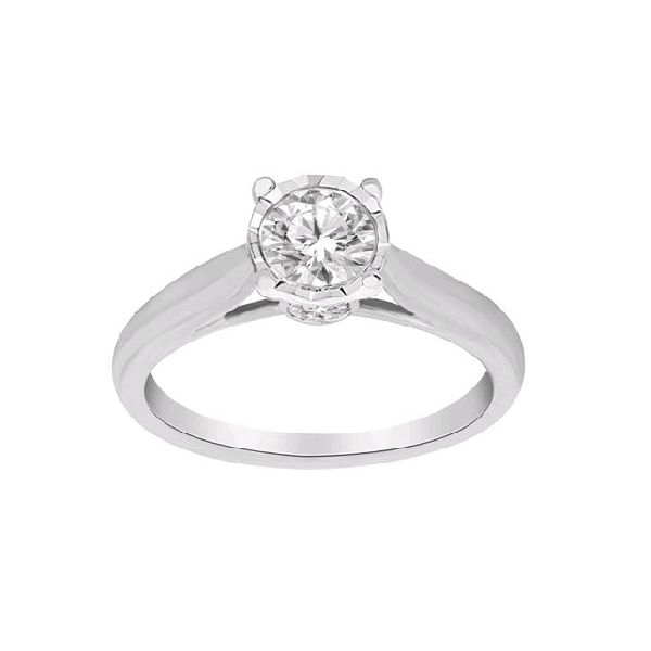 14K White Gold Solitaire Diamond Engagement Ring SVS Fine Jewelry Oceanside, NY