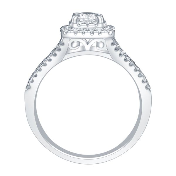 SVS Signature 101© 14K White Gold Engagement Ring Image 2 SVS Fine Jewelry Oceanside, NY