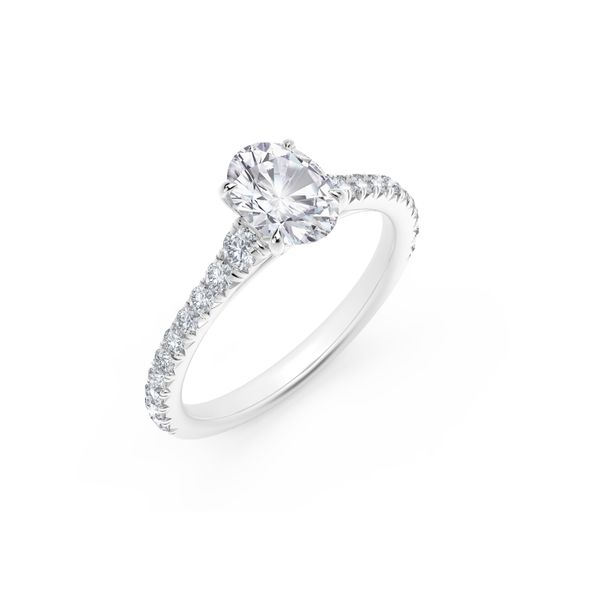 Forevermark Icon™ Setting Platinum Oval Engagement Ring Image 2 SVS Fine Jewelry Oceanside, NY