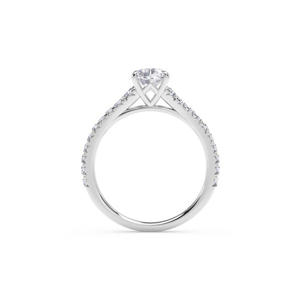Forevermark Icon™ Setting Platinum Oval Engagement Ring Image 3 SVS Fine Jewelry Oceanside, NY