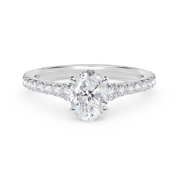 Forevermark Icon™ Setting Platinum Oval Engagement Ring SVS Fine Jewelry Oceanside, NY